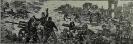 Бутяев П.И.,1936 г.р. Под Сталинградом, 1998 г. бумага, линогравюра 9,7 х 29,5
