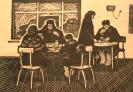 Чермошенцев_А.А.1937-2015ггСельское__кафе.1963г.линогравюра_52х40_ТКГ-97_Г-23