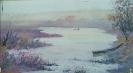 Соловьев Г.С.(1941-2007гг) Пейзаж с лодкой, до 2007 г. холст, масло 25 х 43,5