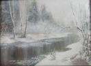 Кужев В.А,1949г.р. В тумане,2017г.х.на картоне,масло 30 х 40