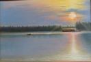 Жемолдинов Р.Б.1951г.р. Закат на Иртыше,2017г. х.м.70 х 100