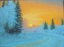 Жемолдинов Р.Б.1951г.р. Зимнее утро, 2021 г. холст, масло 41 х 54