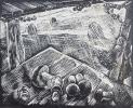 Вильде В.Г.1953г.р.Грибная пора,1988г. бум.линогравюра 21х26