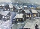Вильде В.Г.1953г.р. Мокрый снег,2000г. бумага, акварель, 53х71