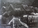 Вильде В.Г.1953г.р. Тарский тротуар,2002г. бумага, линогравюра, 30 х 40