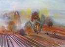 Вильде В.Г.1953г.р. Осенний туман, 2018г. бумага, акварель, 57х 75