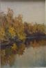 Кальницкий Н.Д.(1963-2010) Осень,2005г. двп,масло 37х25