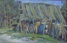 Кальницкий Н.Д.(1963-2010гг) Хижина, 2002г.картон. масло 29х44