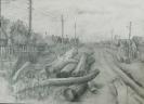 Кальницкий Н.Д.(1963-2010гг) Без названия, до 2010г. бум.карандаш 43х32