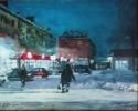Глебов В.В.1969г.р. Каникулярные морозы,2019г. двп, масло 40х50