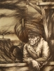 Макаров_А.С._1952г.р._Старый_лоцман1984г._цв._автолитография_38х49_ТКГ-192_Г-50
