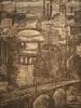 Катилло-Ратмиров Г.С.1937 г. р. Мосты над Омью, 1973/ г бумага, офорт