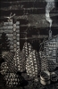 Кудряшов В.К.(1944-2003гг) Сибирский натюрморт. Кедры, 1980 г. линогравюра