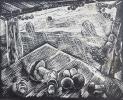 Вильде В.Г.1953г.р. Грибная пора,1988 г. бумага, линогравюра