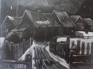 Вильде В.Г.1953г.р. Тарский тротуар,2002г. бумага, линогравюра,