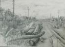 Кальницкий Н.Д.(1963-2010гг) Без названия, до 2010г. бумага, карандаш