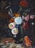 Глебов В.В. Натюрморт итальянские цветы, 2009г. бумага, пастель