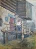 Кальницкий Н.Д.(1963-2010 гг) Уголок старой Тары, 1986 г. холст, масло