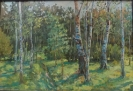 Кальницкий Н.Д(.963-2010 гг) Теплый лес,1996 г. холст, масло