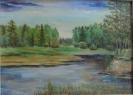 Сафронов Р.А. (1935-2006 гг) Река моего детства, 1997 г. двп. масло
