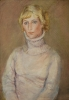 Витухновская С.С.(1912-1999гг) Портрет женский, 1981г. бумага,  сангина. акварель