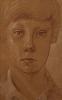 Радужный А. (1960-1999гг)Портрет мальчика, 1984 г.  бум.сангина