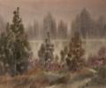 Соловьев Г.С.(1941-2007гг) Туман, 2006 г. бум.акварель