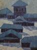 Соловьев Г.С.(1941-2007 г) Синие тени, 1972 г. х.м.