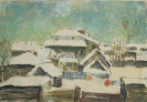 Соловьев Г.С. (1941-2007гг) Тара зимой, 1995 г. бум. темпера