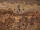 Санин И.А. 1939г.р. Утро в Нижнем Новгороде. 2003 г. бум. акварель