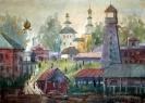 Соловьёв Г. С. Тара довоенная. 1991. Бумага, акварель