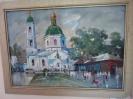 Шакенов А.А.Церковь на Тарской. 2005. Картон, масло