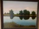 Горбунов Н.Г. Рыбак и озеро. 1999. Холст, масло