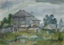 Артамонова Е.А. 1978г.р. Старый дом Тары, 2012г. бумага, акварель