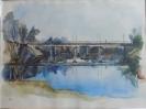 Глебов В.В.1969г.р. Мост через Аркарку. Весна,2016 г. бумага, акварель