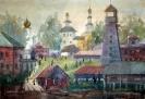 Соловьев Г.С.(1941-2007 гг.) Тара довоенная, 1991г. бум. акв.
