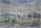 Соловьев Г.С.(1941-2007 гг.) Поздняя осень, 2005 г. бум. акварель